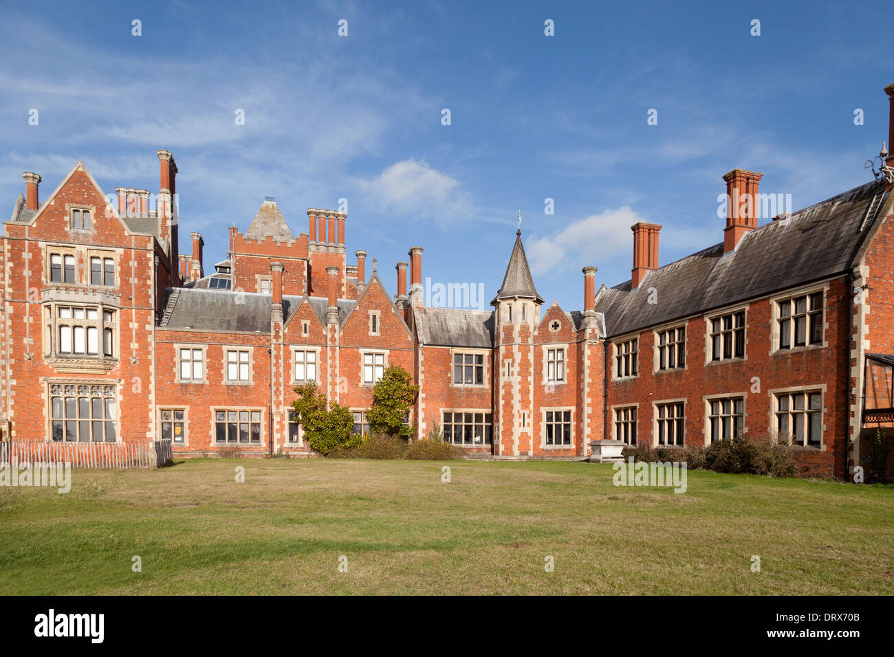 Taplow Court, a large Victorian house; Taplow, Buckinghamshire England UK - Stock Image
