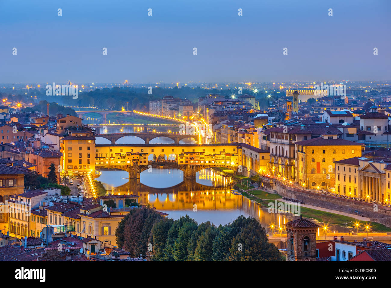 View on Arno river in Florence - Stock Image