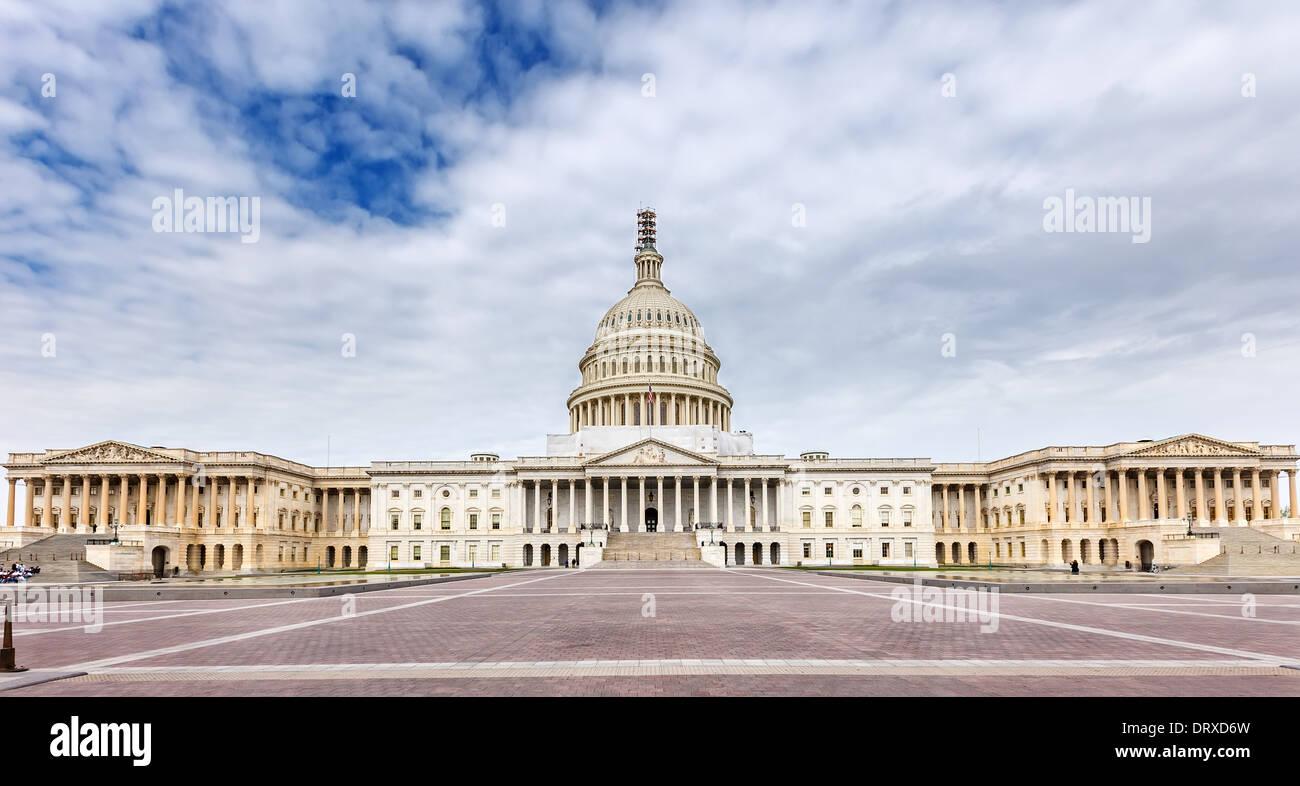 US Capitol panoramic view - Stock Image