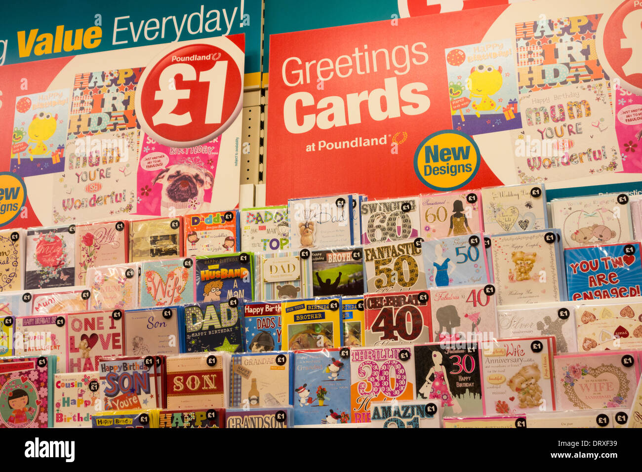 Birthday Cards In Poundland Store UK