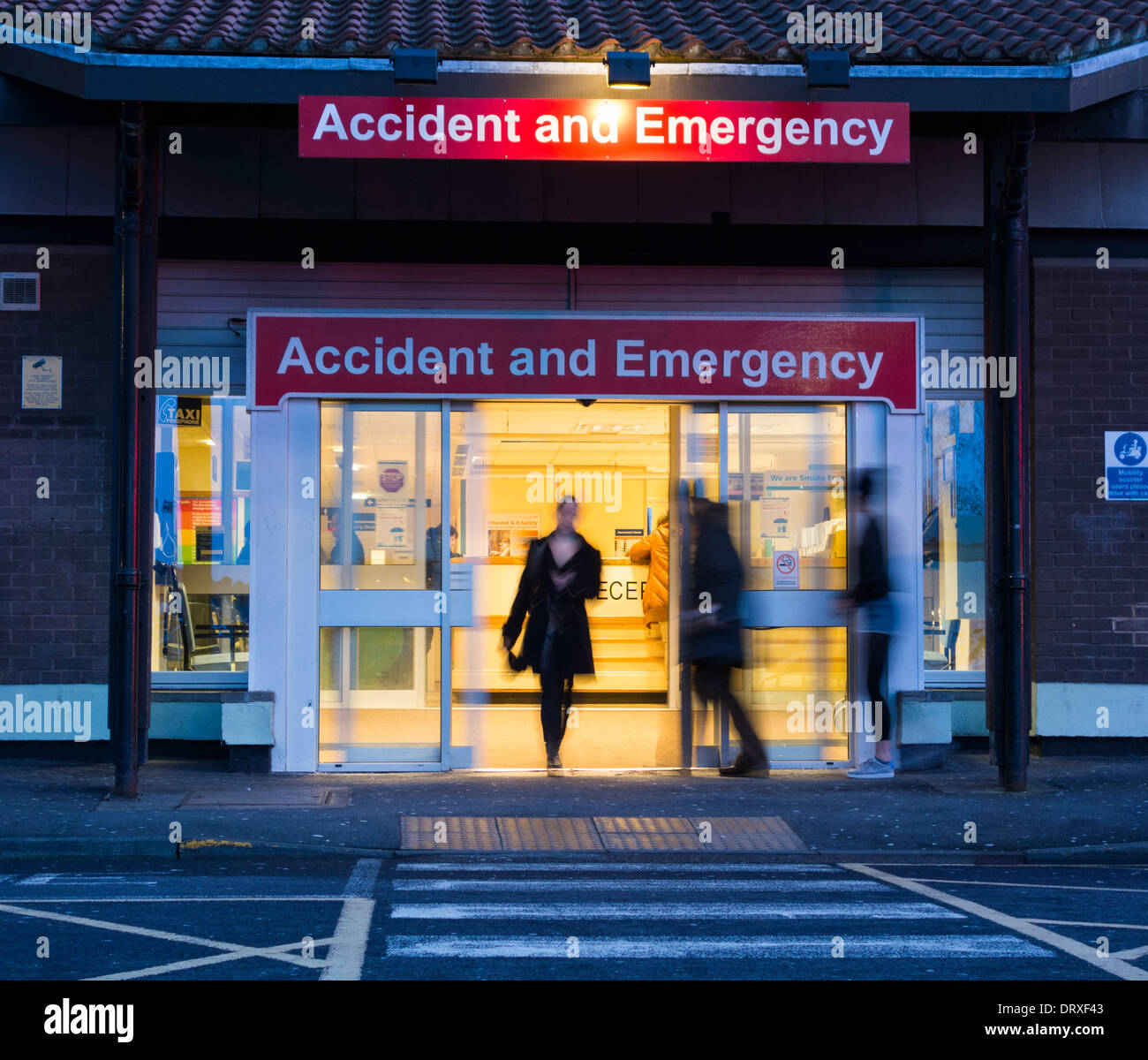 Accident and Emergency/a&e at University Hospital of North Tees, Hardwick Rd, Stockton on Tees, England, UK - Stock Image