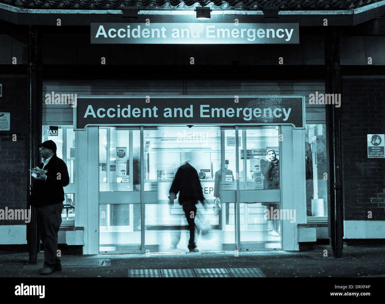 Accident and Emergency at University Hospital of North Tees, Hardwick Rd, Stockton on Tees, England, UK - Stock Image
