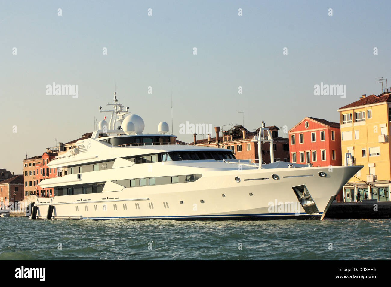 Yacht Stargate, one of the world's longest motor luxury yachts built by Oceanco for the Qatar Royal family,  IMO 1005904 - Stock Image
