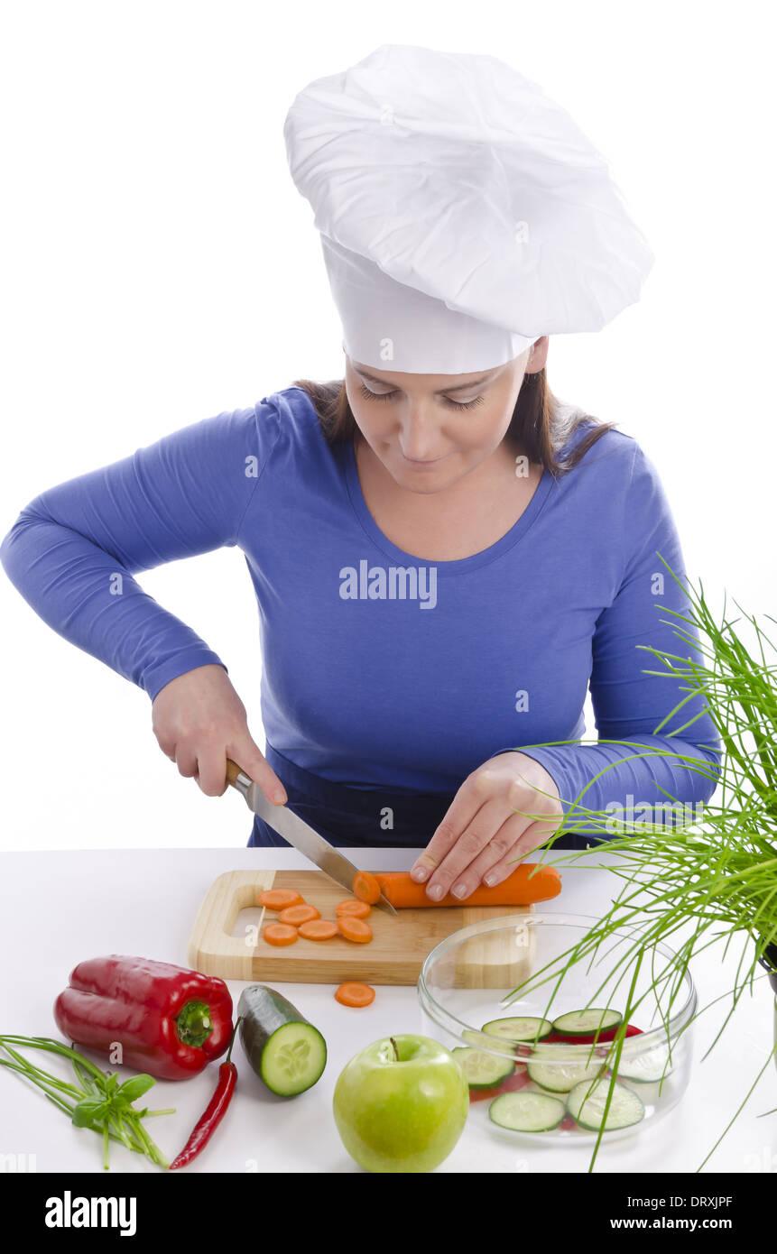 eine Frau, die kochen kann - Stock Image