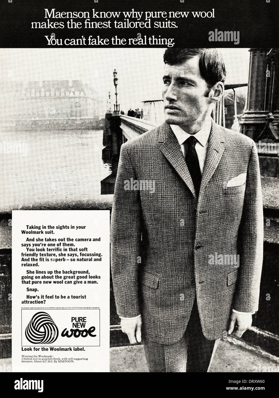 1960s Magazine Advertisement Advertising Men S Tailored