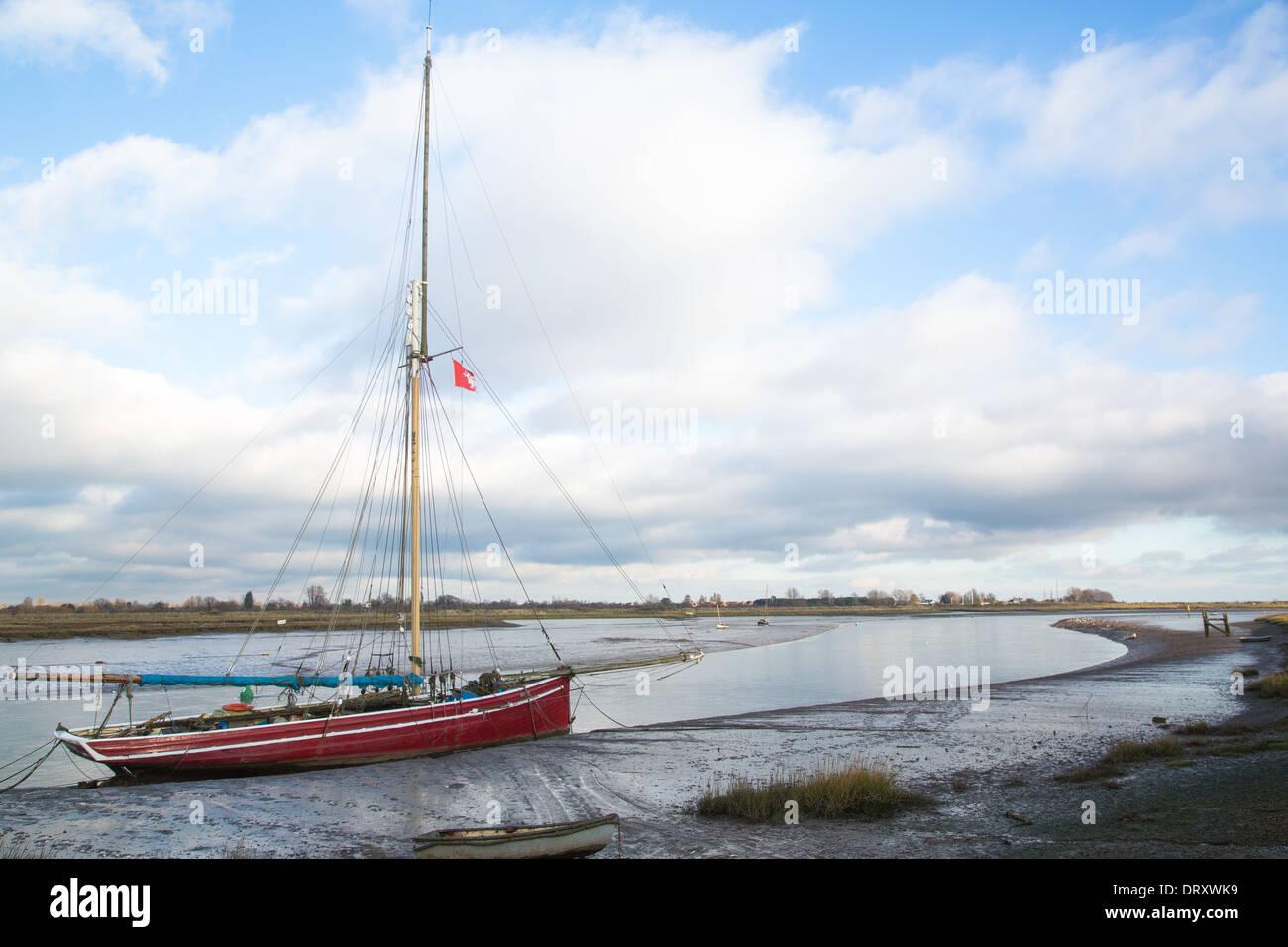 The Blackwater Estuary, Maldon, Essex, UK - Stock Image