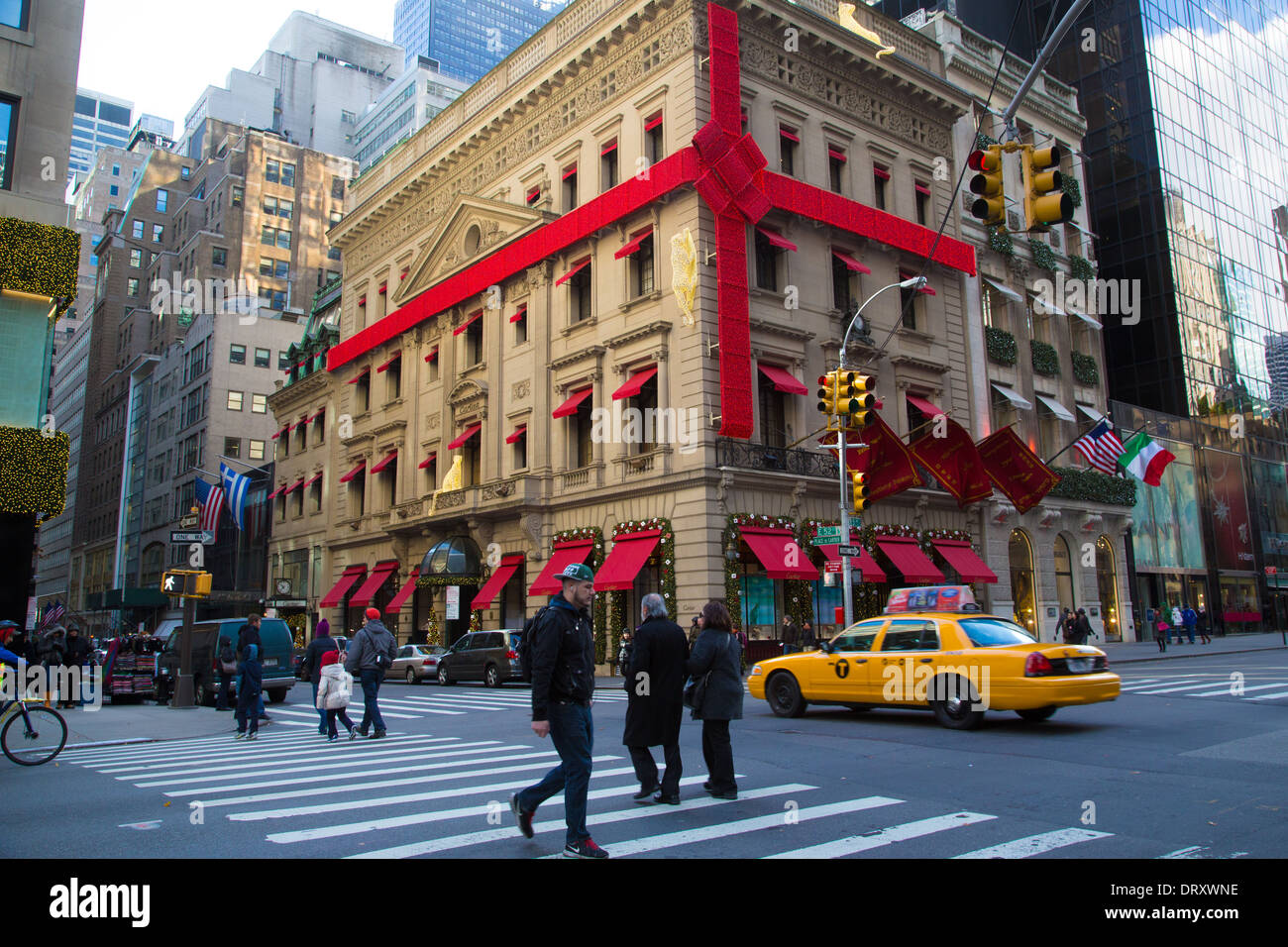 Cartier Store Front, 5th Avenue, NYC - Stock Image