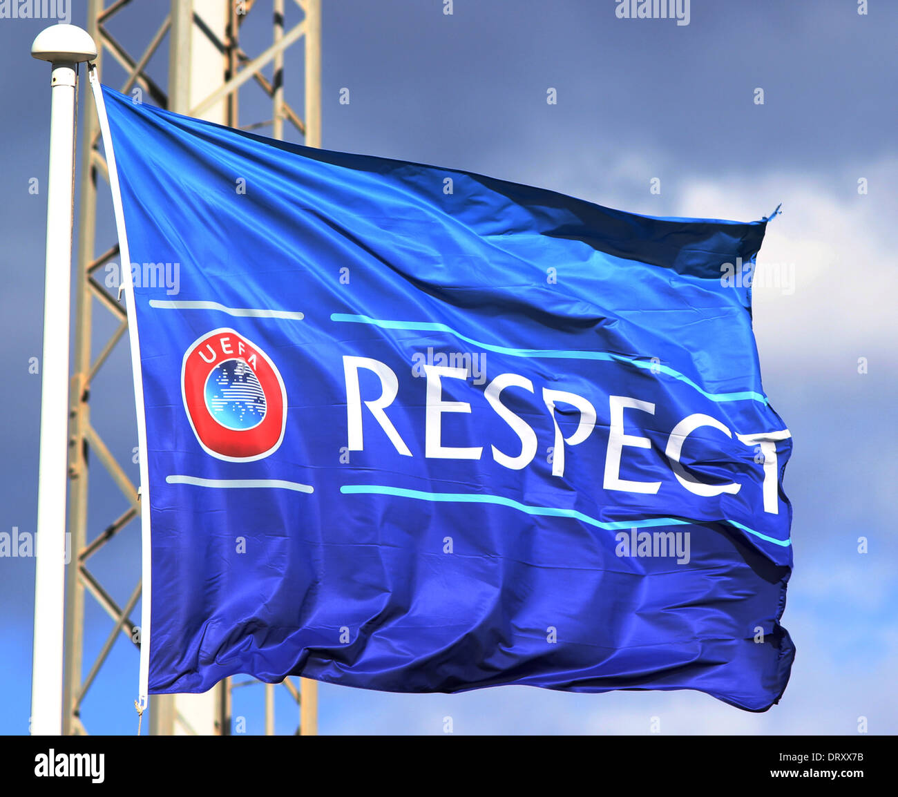 UEFA Respect Campaign Flag - Stock Image