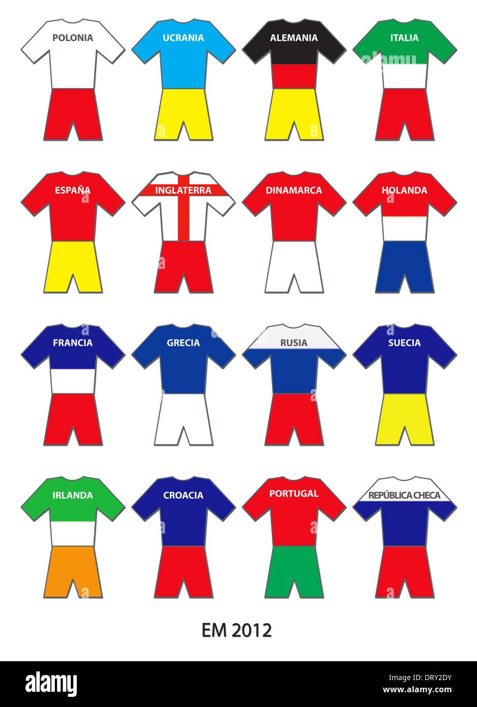 EM 2012 Teams - ESPAÑOL - Stock Image