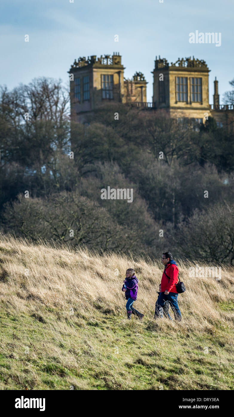 Hardwick Hall More glass than stone. - Stock Image