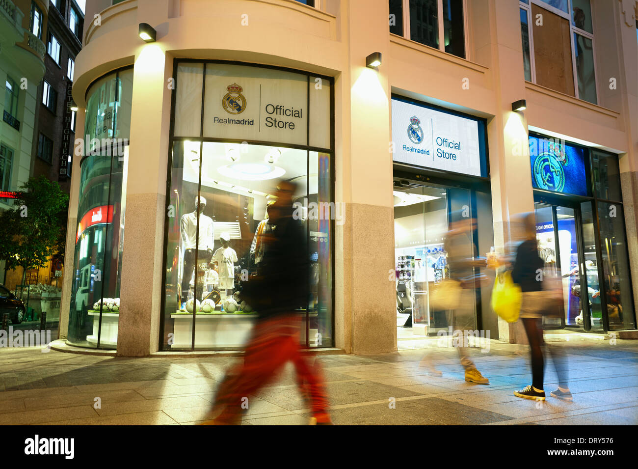 e24d8110e Real Madrid Official Store at Gran Vía street. Madrid. Spain - Stock Image