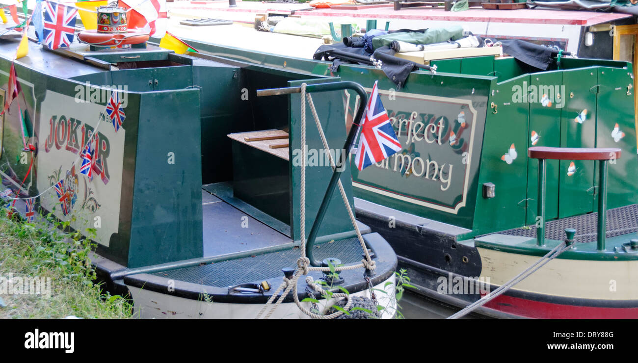 Canal Narrowboats at the Annual Inland Waterways Association's Rally at Little Venice, Paddington, London - Stock Image