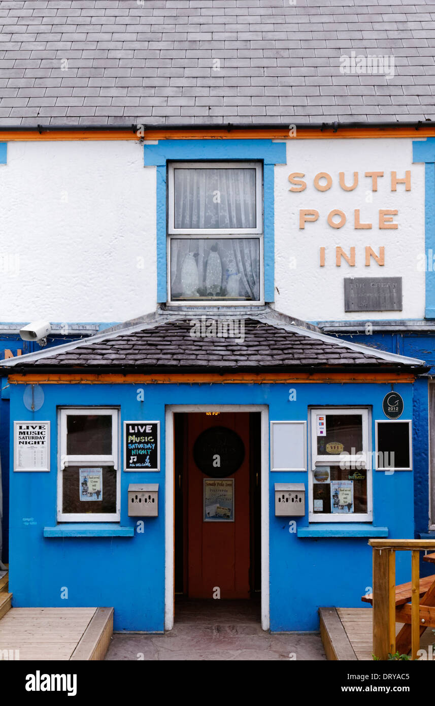 The South Pole Inn, owned by Tom Crean, in Anascaul in County Kerry, Ireland - Stock Image