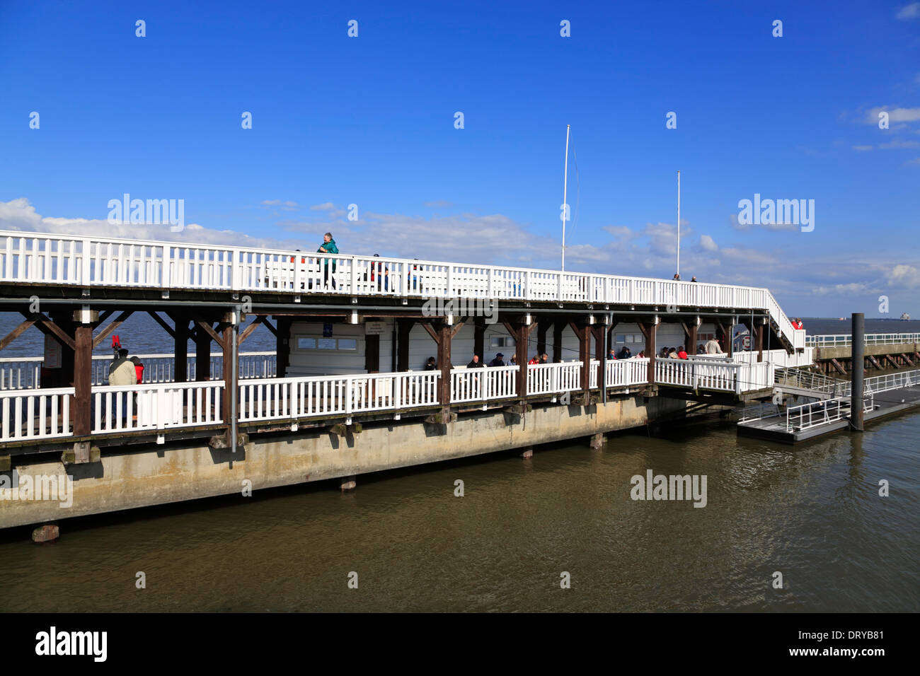 Pier ALTE LIEBE,  Cuxhaven, North Sea, Lower Saxony, Germany, Europe - Stock Image