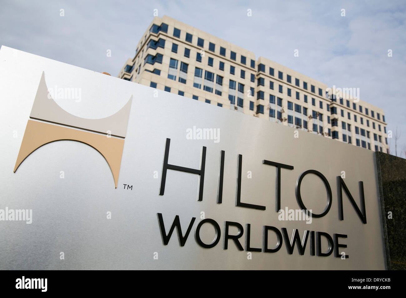 The headquarters of Hilton Worldwide in McLean, Virginia.  - Stock Image