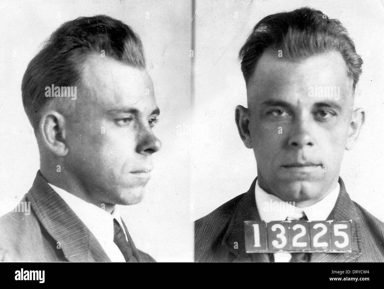 John Dillinger, John Herbert Dillinger, American gangster and bank robber in the Depression-era United States - Stock Image