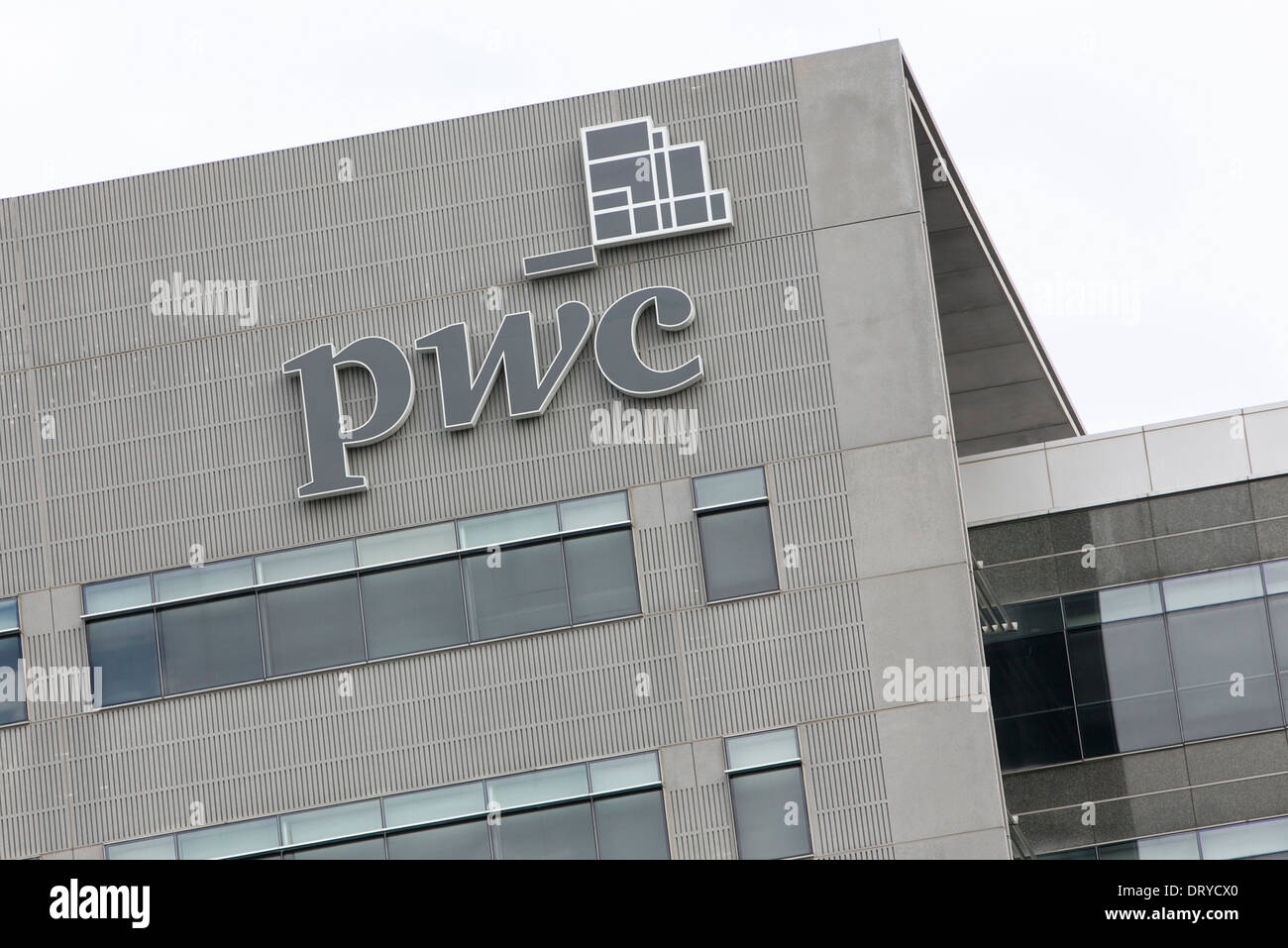 An office building occupied by PricewaterhouseCoopers in Tysons Corner, Virginia.  - Stock Image
