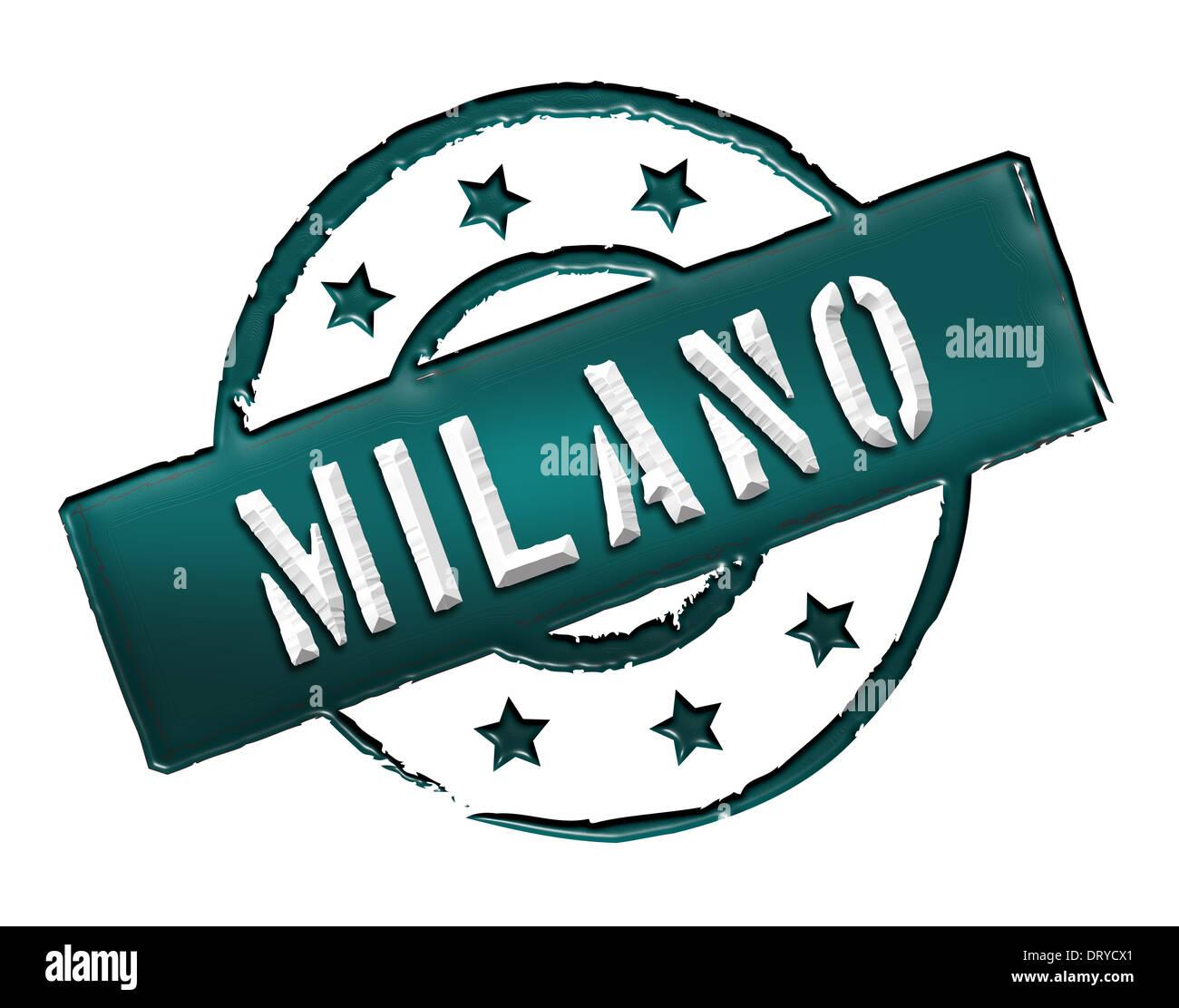 Stamp - Milano - Stock Image
