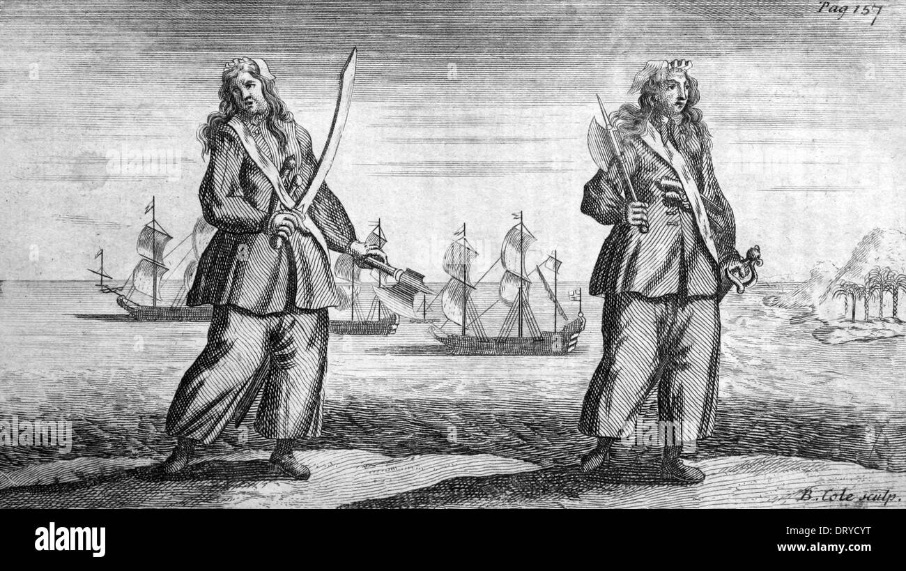 Pirates Ann Bonny and Mary Read - Stock Image