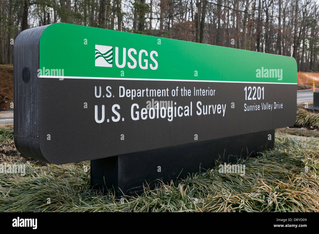 The headquarters of the U.S. Geological Survey in Reston, Virginia.  - Stock Image