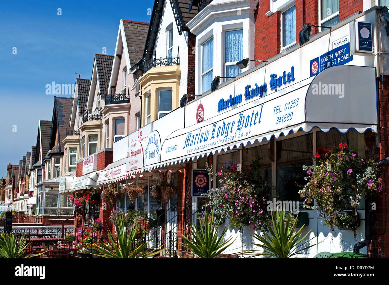 hotels and bed breakfast establishments in Blackpool, UK - Stock Image