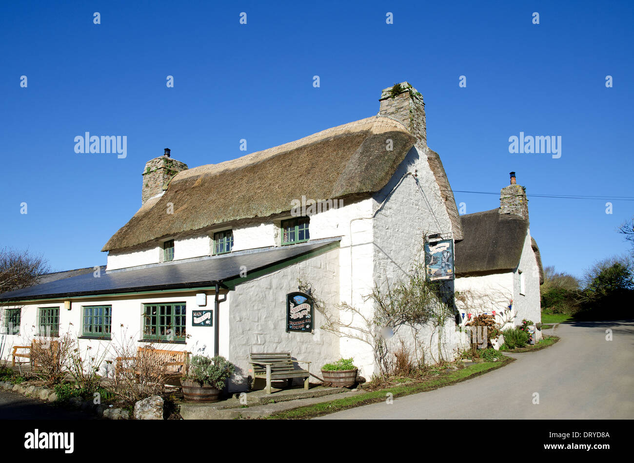 Th e Smugglers Inn near Cubert in Cornwall, UK - Stock Image