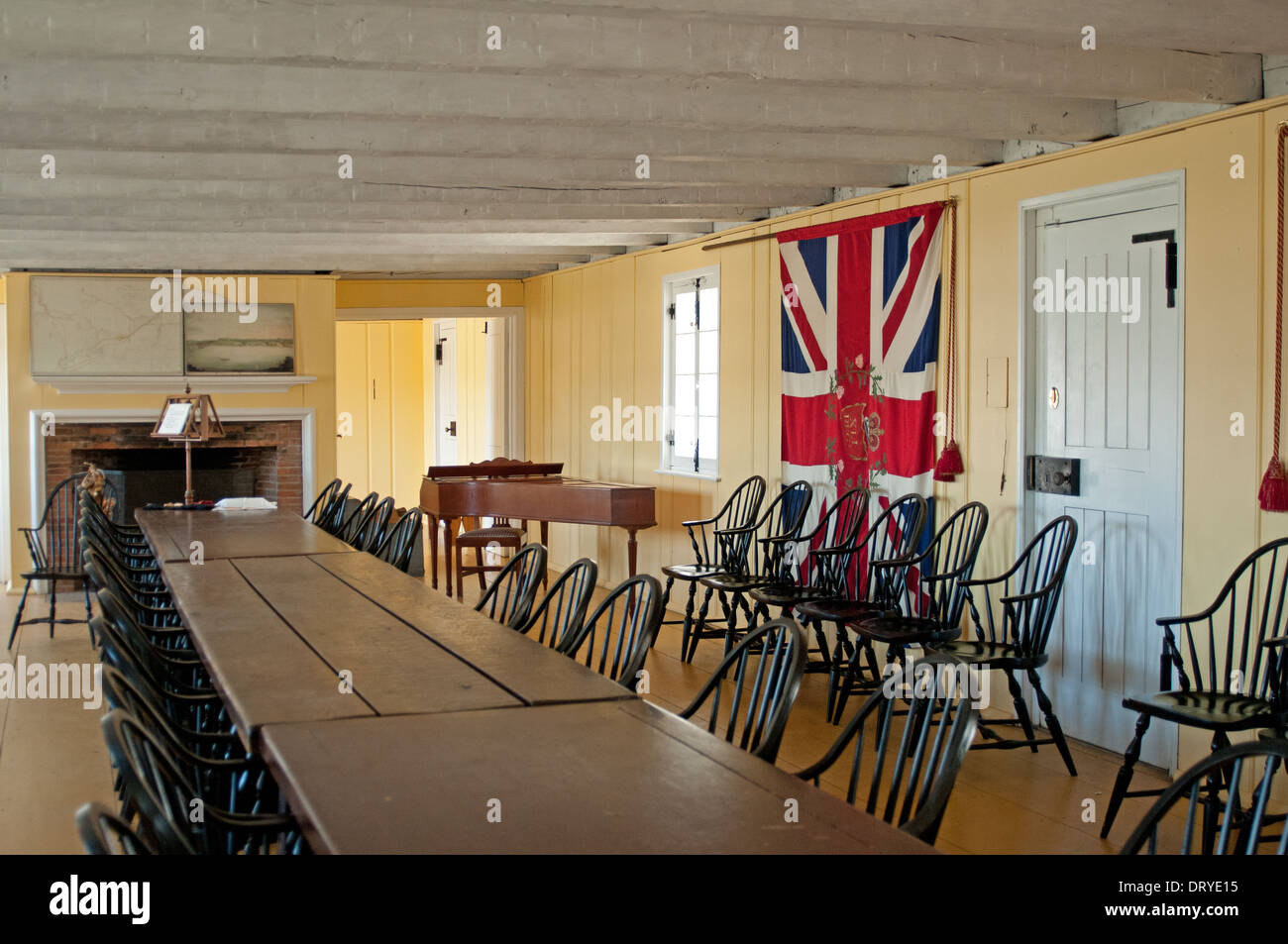 Dining room officers mess, Fort George, Niagara-on-the-Lake - Stock Image