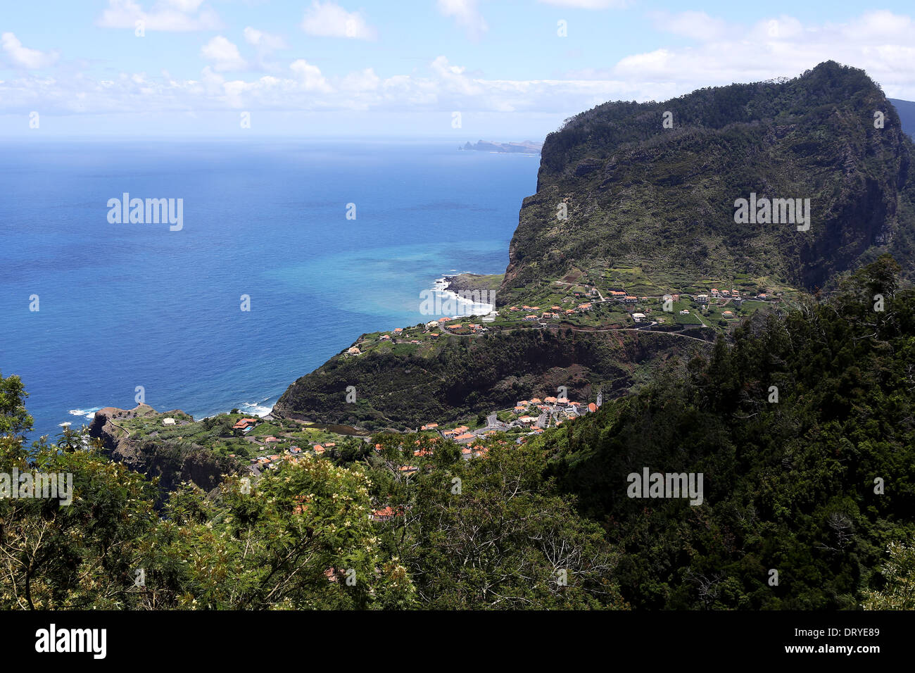 Faial, on, Madeira, Island, coast, coasts, shore, shores, seashore, seashores, seascoast, seascoasts, sea, seaboard, Stock Photo