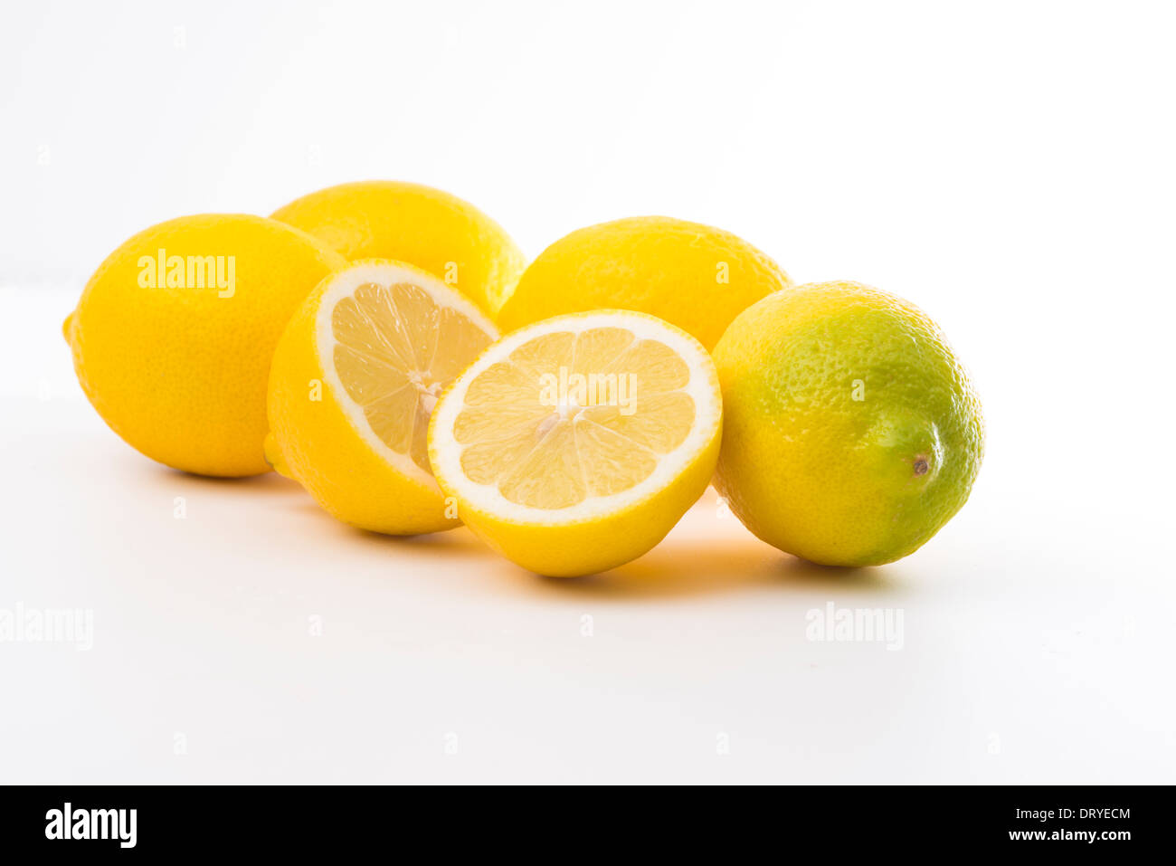 Lemons-cut-out - Stock Image