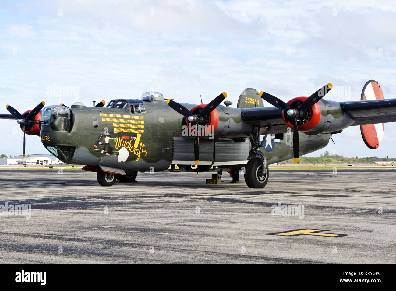 Consolidated B-24 Liberator 'Witchcraft' - Stock Image