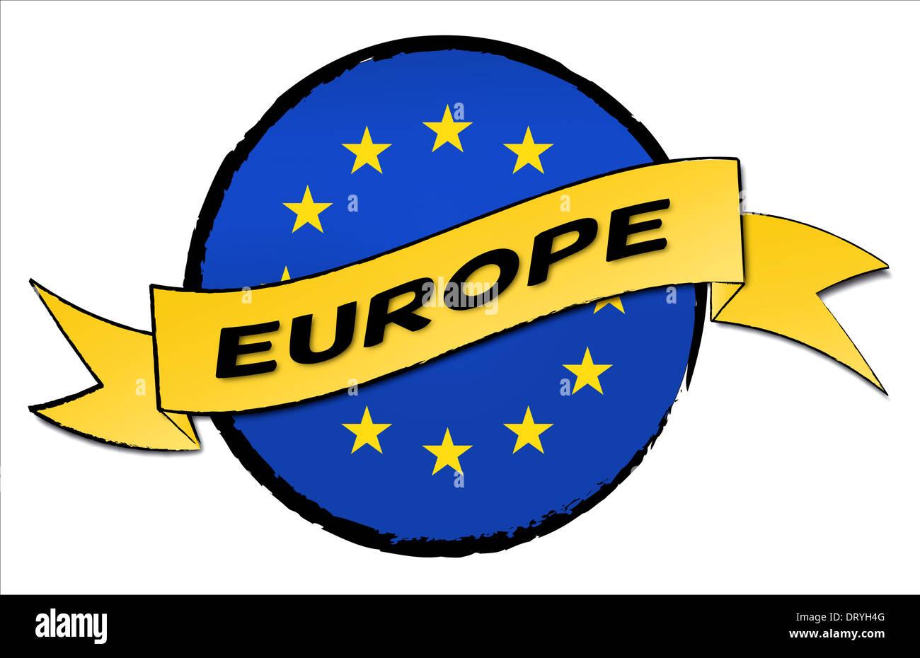 Circle Land - Europe - Stock Image