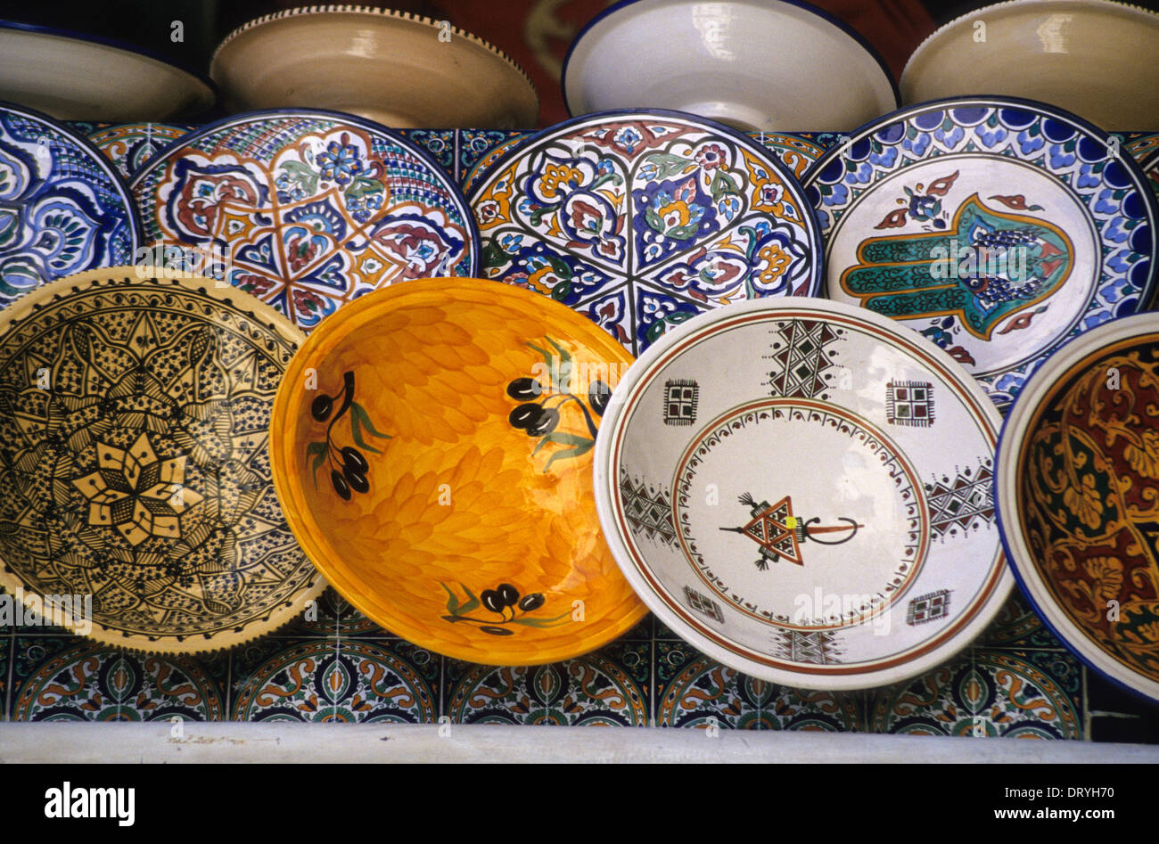 Variety of Designs on Ceramic Plates Bowls. & Ceramics Nabeul Tunisia. Variety of Designs on Ceramic Plates ...