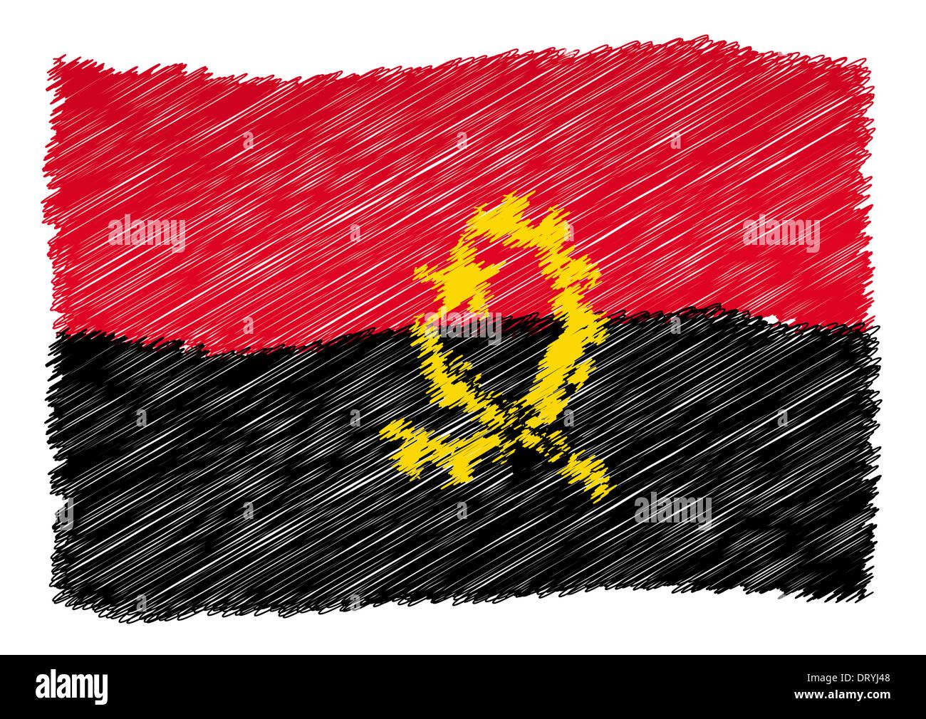 Sketch - Angola - Stock Image