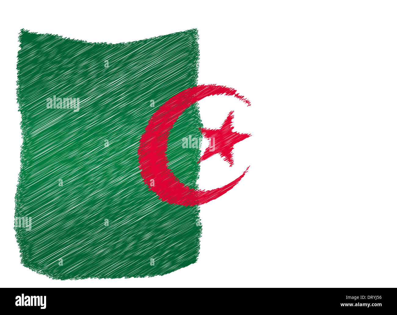 Sketch - Algeria - Stock Image