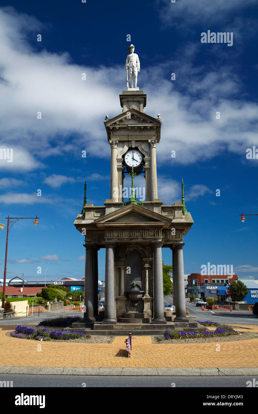 South African War memorial, Invercargill, Southland, South Island, New Zealand - Stock Image