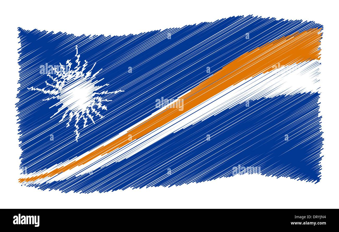 Sketch - Marshall Islands - Stock Image