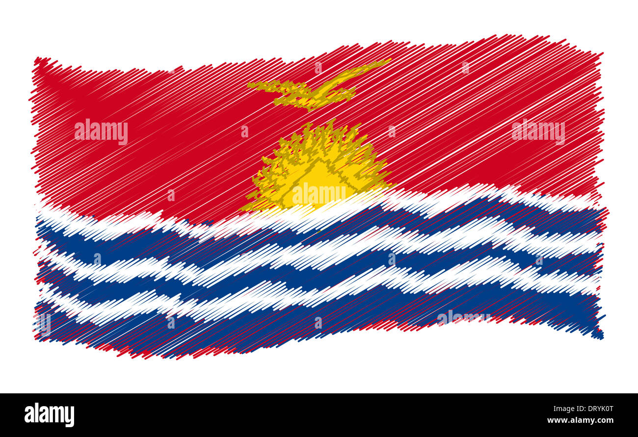 Sketch - Kiribati - Stock Image