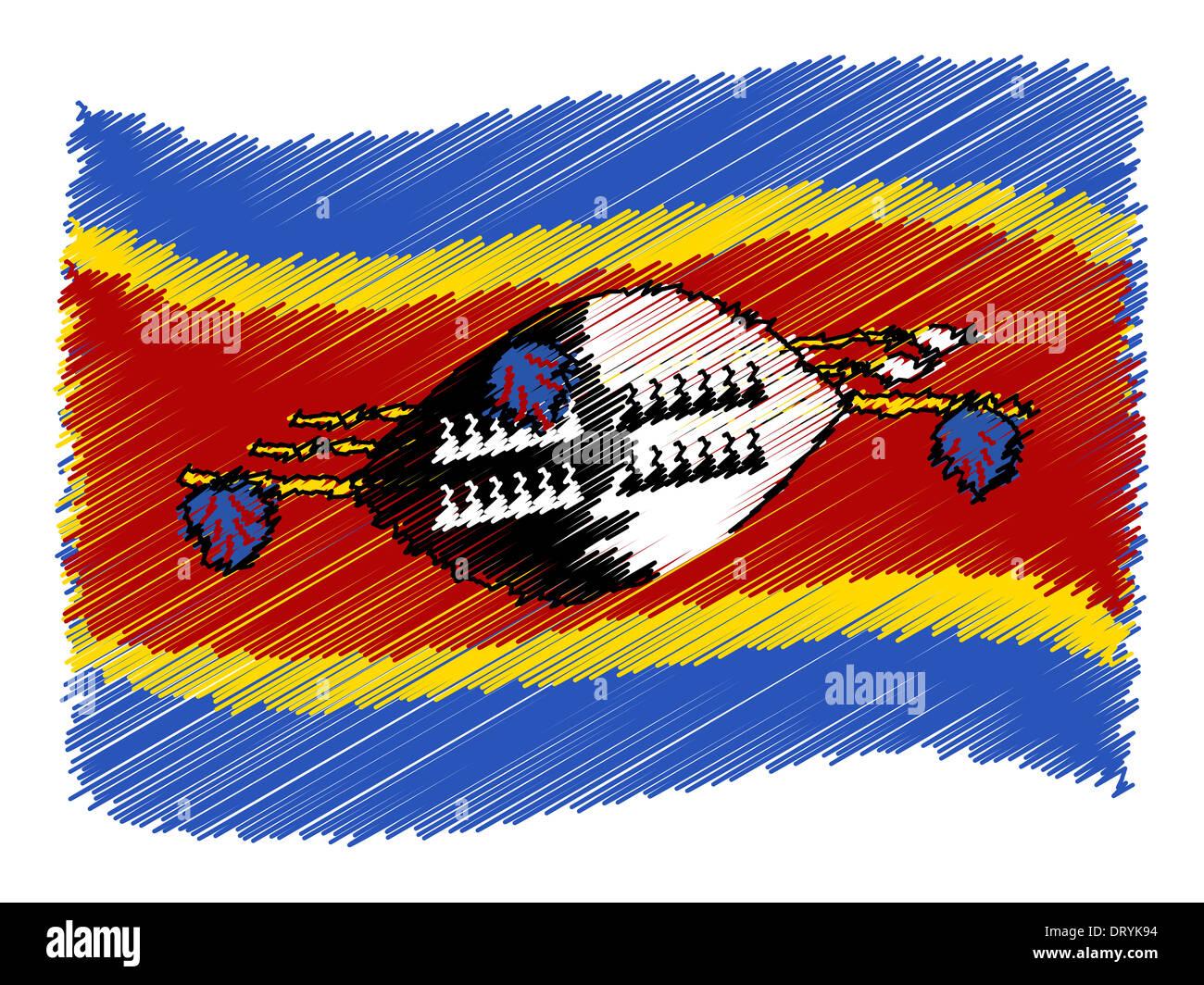 Sketch - Swaziland Stock Photo