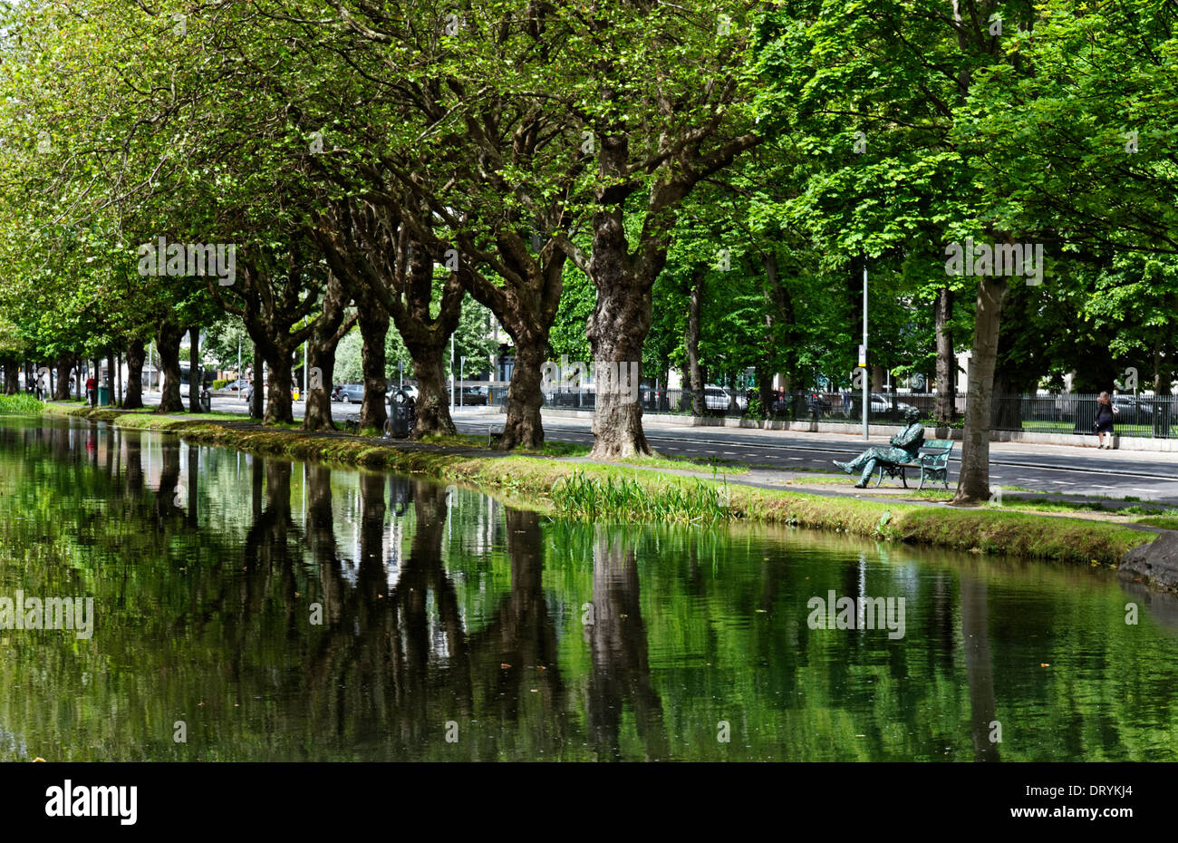 The canal in Dublin, Ireland - Stock Image