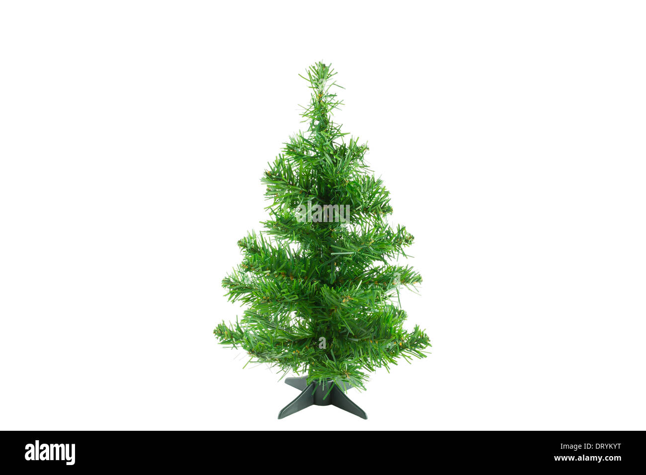 Original Christmas tree on white background. Christmas tree for decoration. - Stock Image