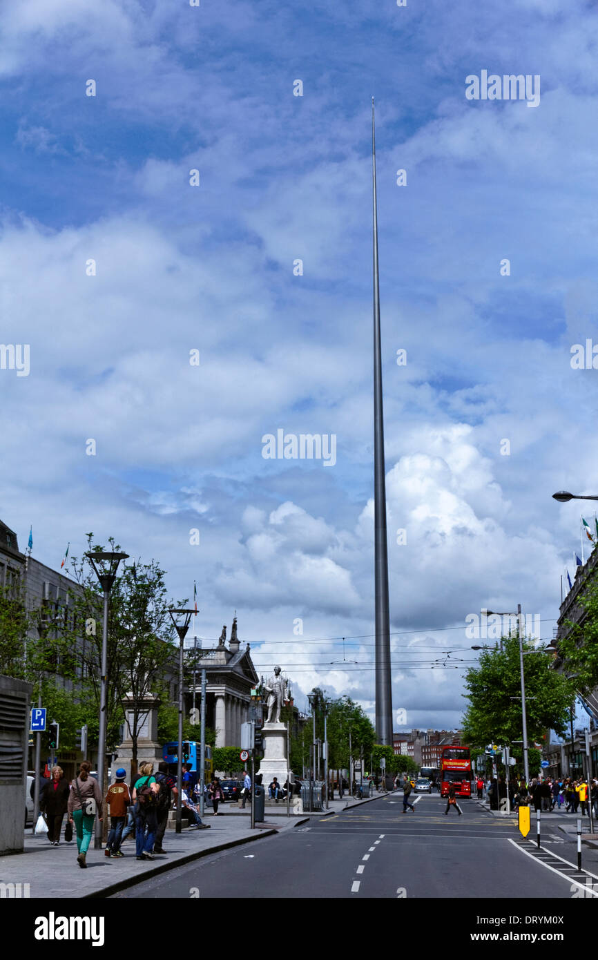 The Spire in Dublin City Centre, Ireland - Stock Image