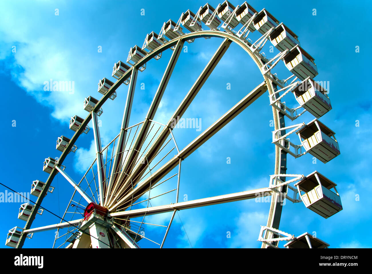 Ferris wheel in the HafenCity Stock Photo