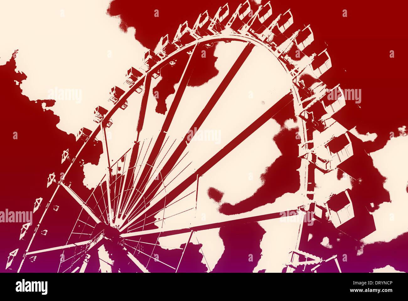 Ferris wheel in the HafenCity Stock Photo