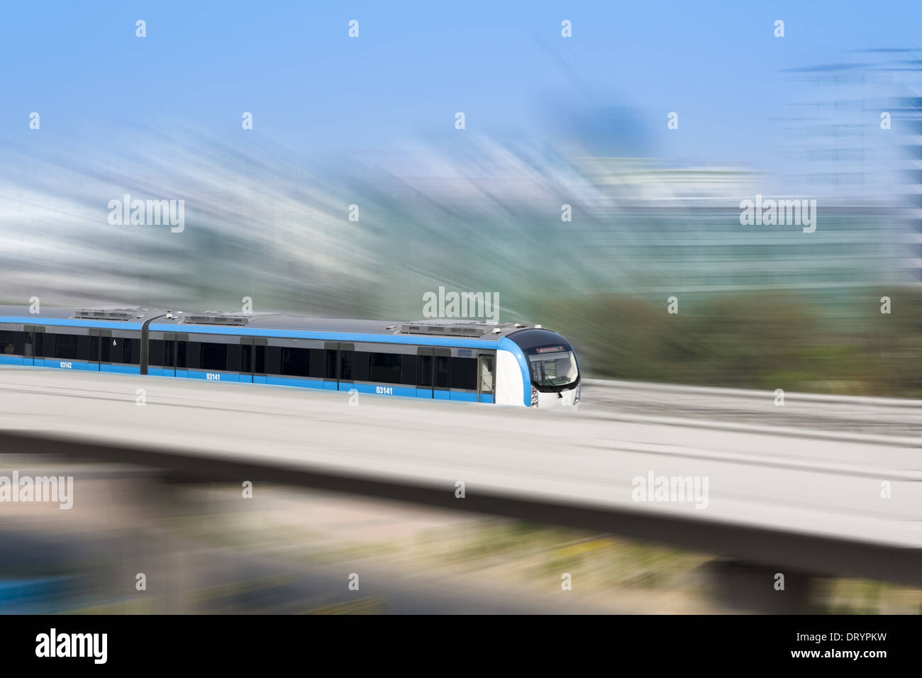 city rails transportation - Stock Image