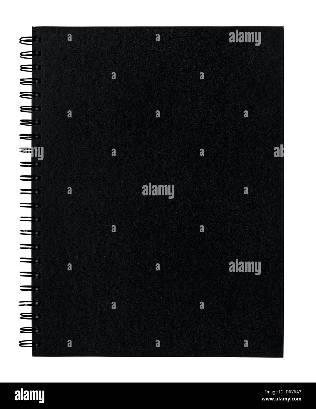 Blank spiral bound scrap book front cover with empty copy space for insertion of your message or design elements. - Stock Image