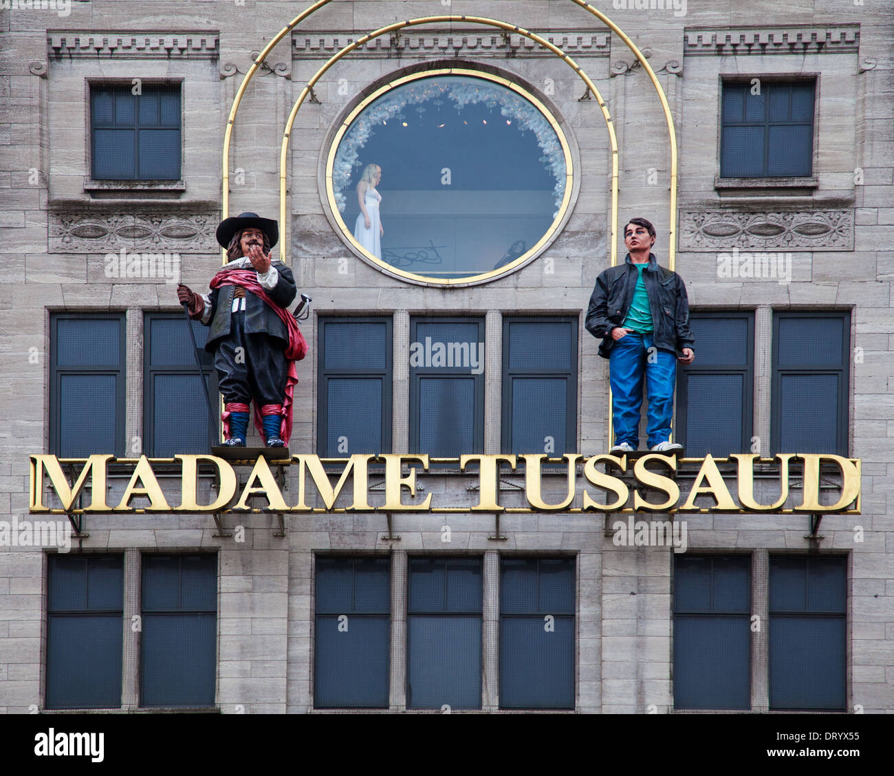 Madame Tussaud wax cabinet in Amsterdam - Stock Image