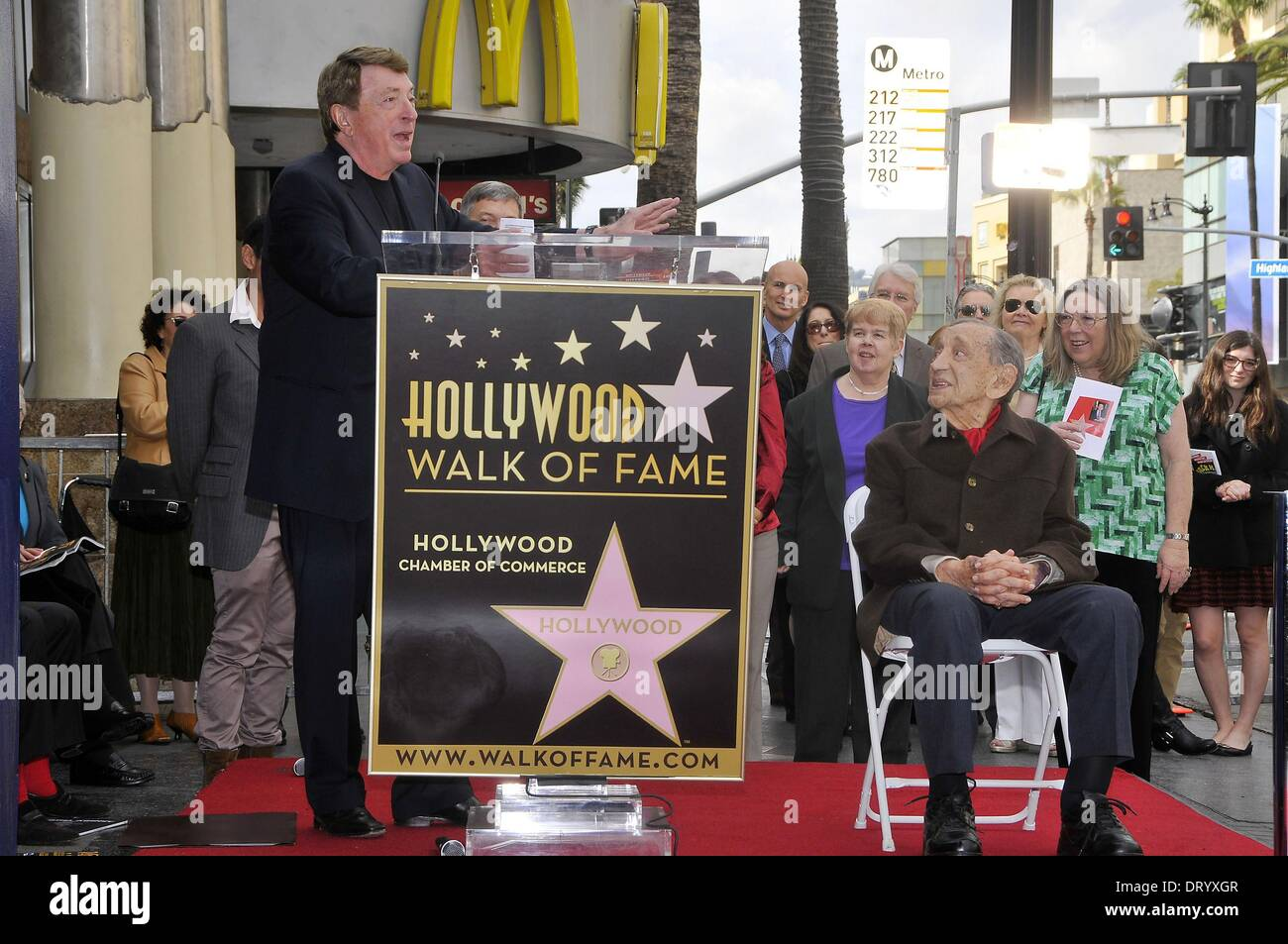 Los Angeles, CA, USA. 4th Feb, 2014. Brian Witten, Jack H. Harris at the induction ceremony for Star on the Hollywood - Stock Image