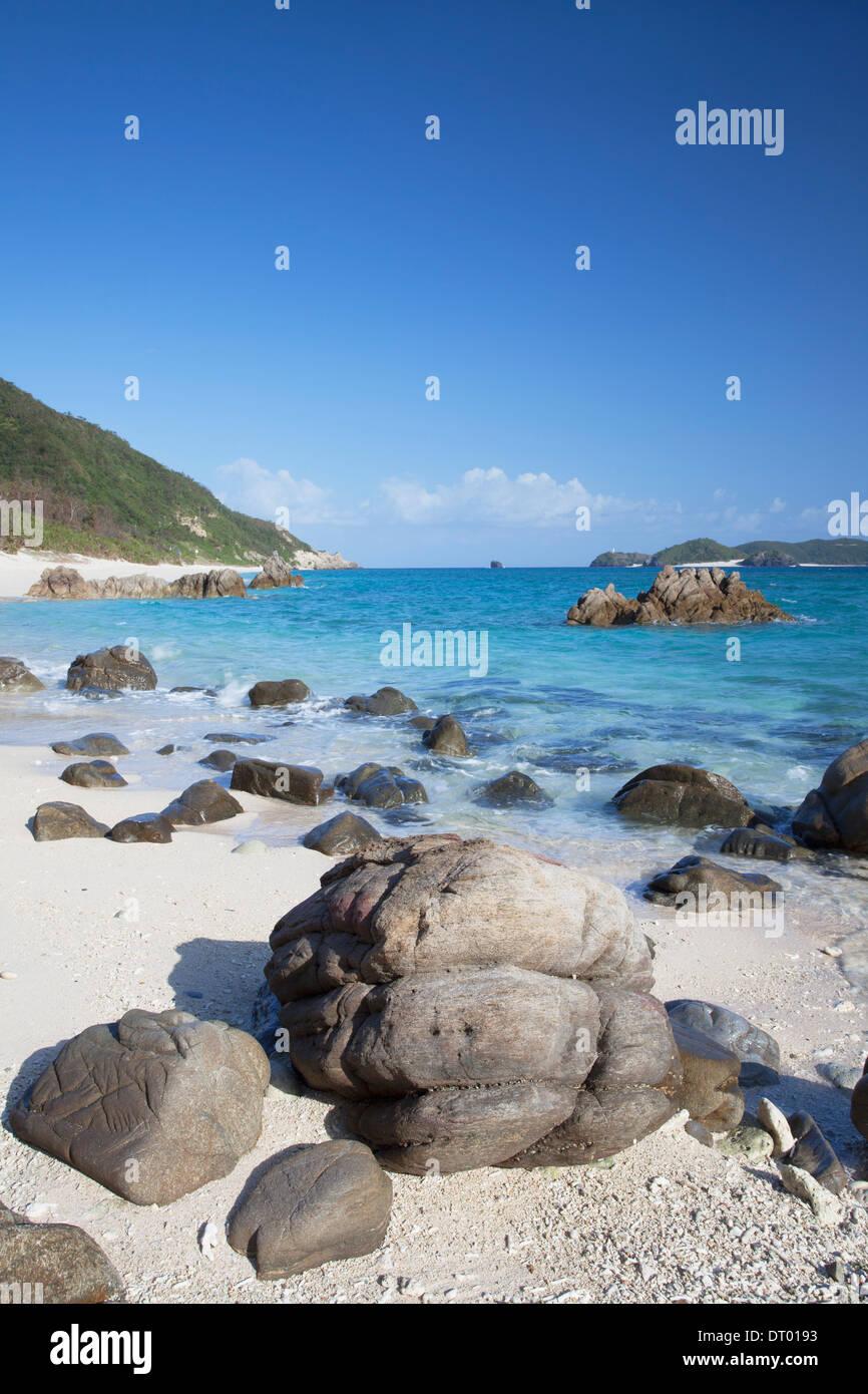 Nishibama Beach, Aka Island, Kerama Islands, Okinawa, Japan Stock Photo