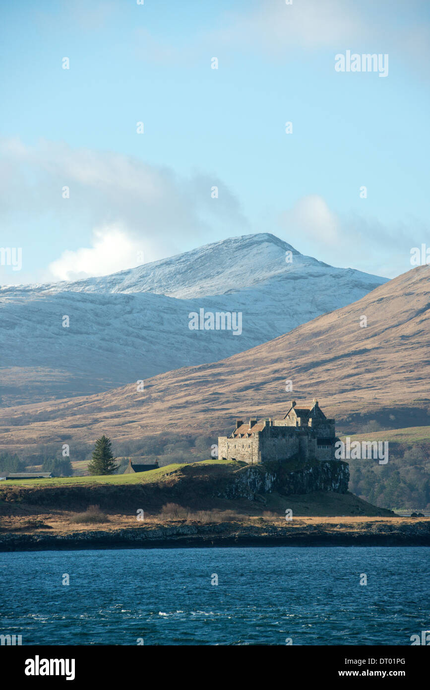 Isle of Mull from the ferry - Stock Image