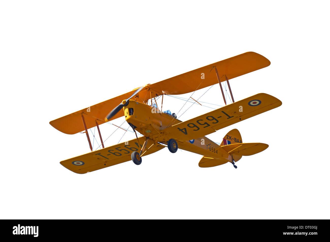 Cutout of De Havilland DH 82A Tiger Moth Biplane - Stock Image